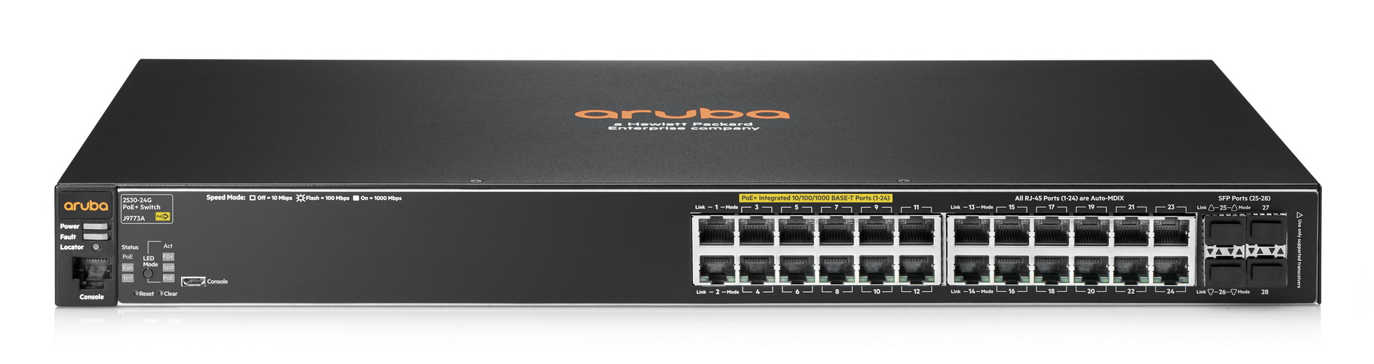 Hewlett Packard Enterprise Aruba 2530 24G PoE+ + Aruba Instant On AP12 (RW) Managed L2 Gigabit Ethernet (10/100/1000) Black 1U Power over Ethernet (PoE)