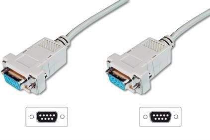 Digitus AK-610100-030-E serial cable Grey 3 m DSUB, 9-pin