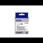 Epson -etikettencassette voorgesneden cirkel LK-8WBWAA, zwart/wit D25 mm (180 etiketten)
