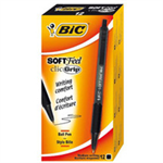 BIC 837397 Clip-on retractable ballpoint pen Black 12pc(s) ballpoint pen