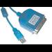Microconnect USB/Cen36 2m M - M 1.8m Blue parallel cable