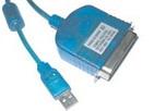 Microconnect USB/Cen36 2m M - M parallel cable 1.8 m Blue