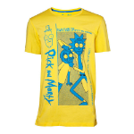RICK AND MORTY Crazy Crap T-Shirt, Male, Small, Yellow (TS025350RMT-S)