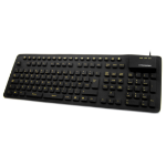 Accuratus KYB-WP127-HIVIS USB + PS/2 QWERTY English Black keyboard