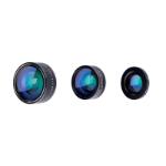 PNY LNS-3N1-02-RB mobieletelefoonlens Fisheye-objectief, macro & groothoek Zwart