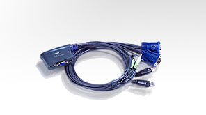 Aten 2-Port USB KVM switch Blue