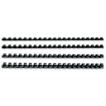 GBC ClickBind Binding Spines 12mm A4 Black (50)