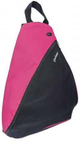 "Manhattan Dashpack Sling Backpack 12"", Black/Pink, Padded Internal Pocket for Laptop up to 12""/Tablet, Zippered hip pockets, Earphone Pocket, Lightweight, Sporty, Padded Shoulder Strap, Three Year Warranty"