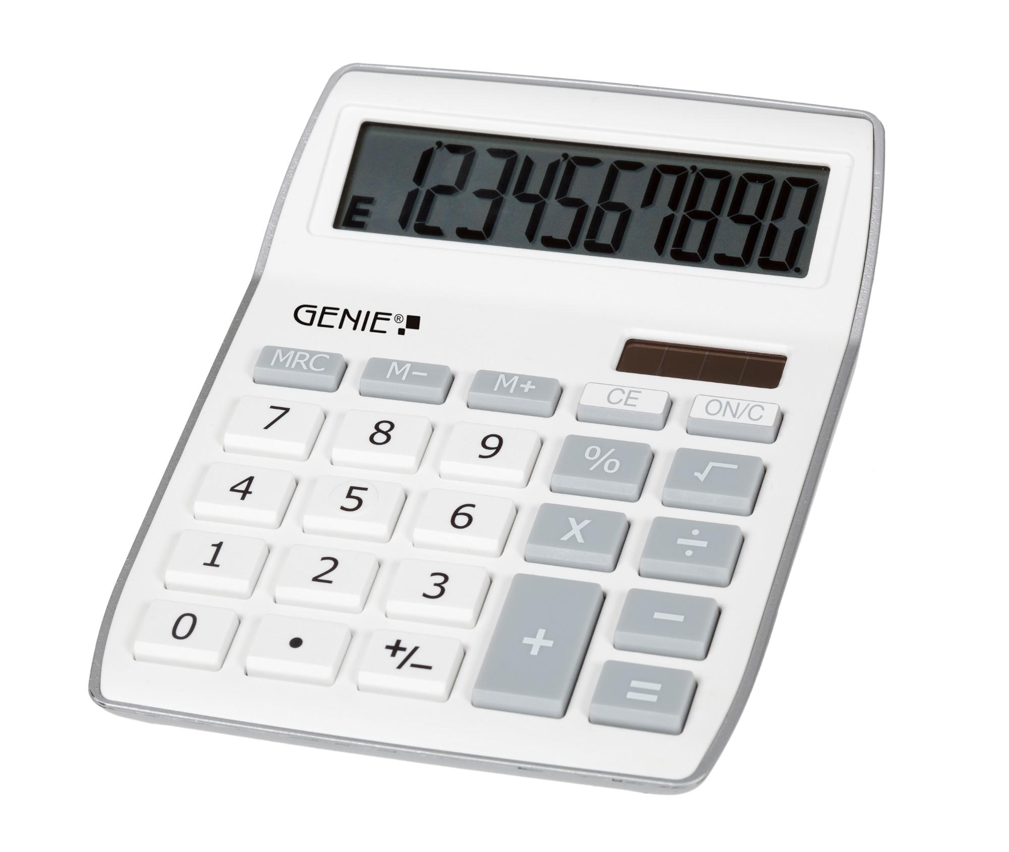Genie 840 S calculator Desktop Display Grey, White