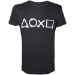 Sony Playstation Spray Painted Buttons Men's T-Shirt, Extra Large, Black (TS240003SNY-XL)