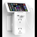 HuntKey 2 Socket Wall Power Station with 2 USB Charging Ports