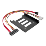 "Tripp Lite P948-BRKT25 drive bay panel 2.5"" I/O ports panel Black"