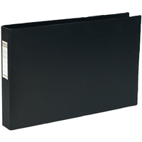 Elba Vision Ring Binder PVC Clear Front Pocket 4 O-Ring A3 Landscape Black Ref 100082459 [Pack 2]