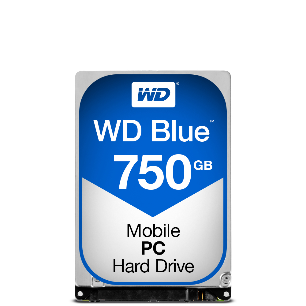 Western Digital Blue PC Mobile HDD 750GB Serial ATA III internal hard drive