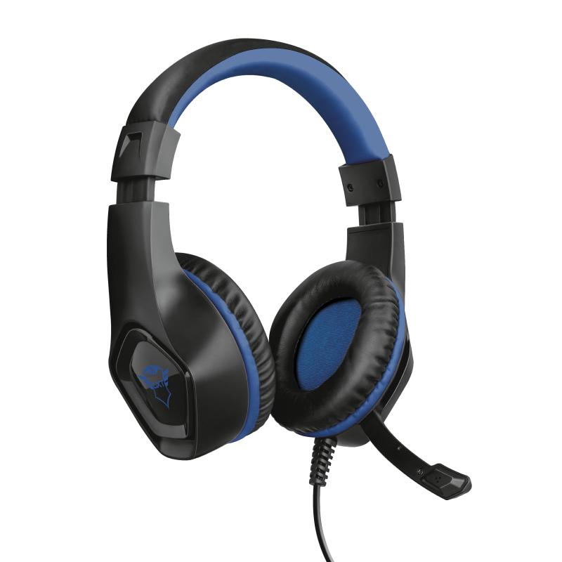 Trust GXT 404B Rana Auriculares Diadema Negro, Azul