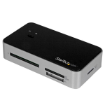 StarTech.com USB 3.0 Multi Media Flash Memory Card Reader with 2-Port USB 3.0 Hub & USB Fast Charge Port card reader