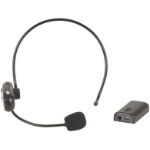 Generic UHF Headset Microphone Kit  UHF transmission between the headset and receiver,