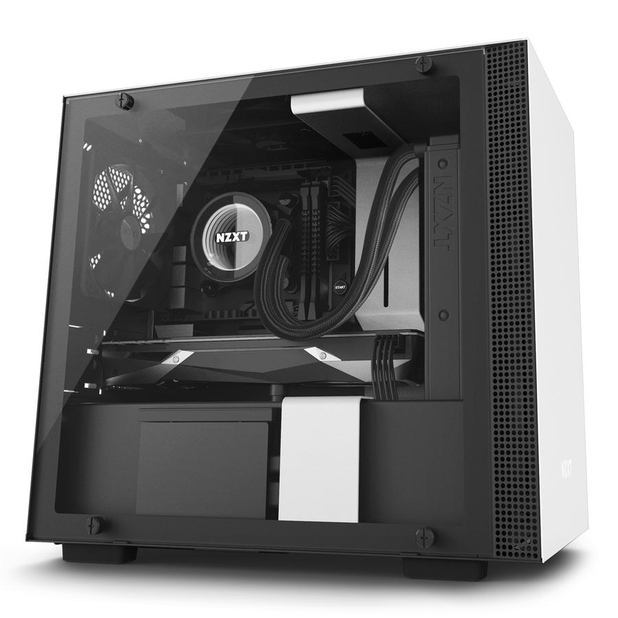 NZXT H200i Mini-Tower Black, White computer case