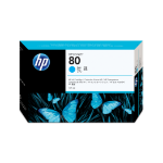 HP 80 cyaan DesignJet inktcartridge, 175 ml