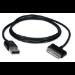 "QVS 3m 30-Pin - USB m/m mobile phone cable USB A Samsung 30-p Black 118.1"" (3 m)"