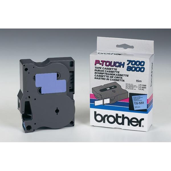 Tape 24mm Lami Black On Blue (tx551)