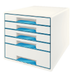 Leitz Wow Cube desk drawer organizer Rubber Blue, White