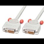 Lindy DVI-D Dual Link DVI Lead, 5m 5m DVI-D DVI-D Grey DVI cable