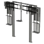 "Peerless VCM580 80"" Fixed flat panel floor stand Silver flat panel floorstand"