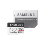 Samsung Micro SDHC 32GB Pro Endurance /w Adapter, UHS-1 SDR104, Class 10, Up to 100MB/s Read, 30MB/s Write,