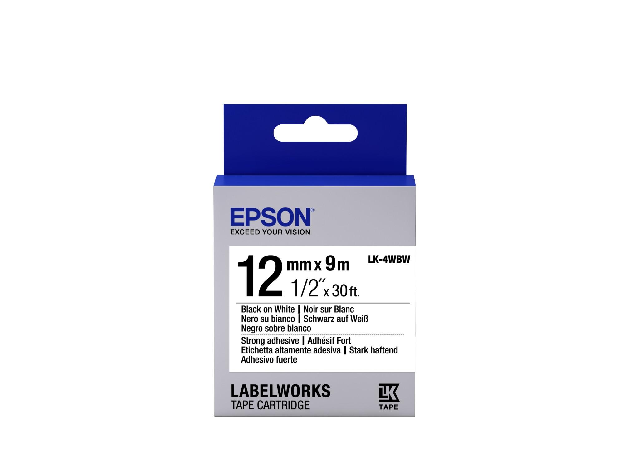 Epson C53S654016 (LK-4WBW) Ribbon, 12mm x 9m