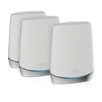 Netgear Orbi WiFi 6 wireless router Tri-band (2.4 GHz / 5 GHz / 5 GHz) Gigabit Ethernet Stainless steel, White