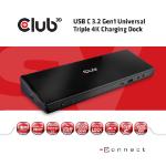 CLUB3D CSV-1562 notebook dock/port replicator Docking Black