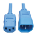 Tripp Lite Standard Computer Power Extension Cord, 10A, 18 AWG (IEC-320-C14 to IEC-320-C13), Blue, 1.83 m
