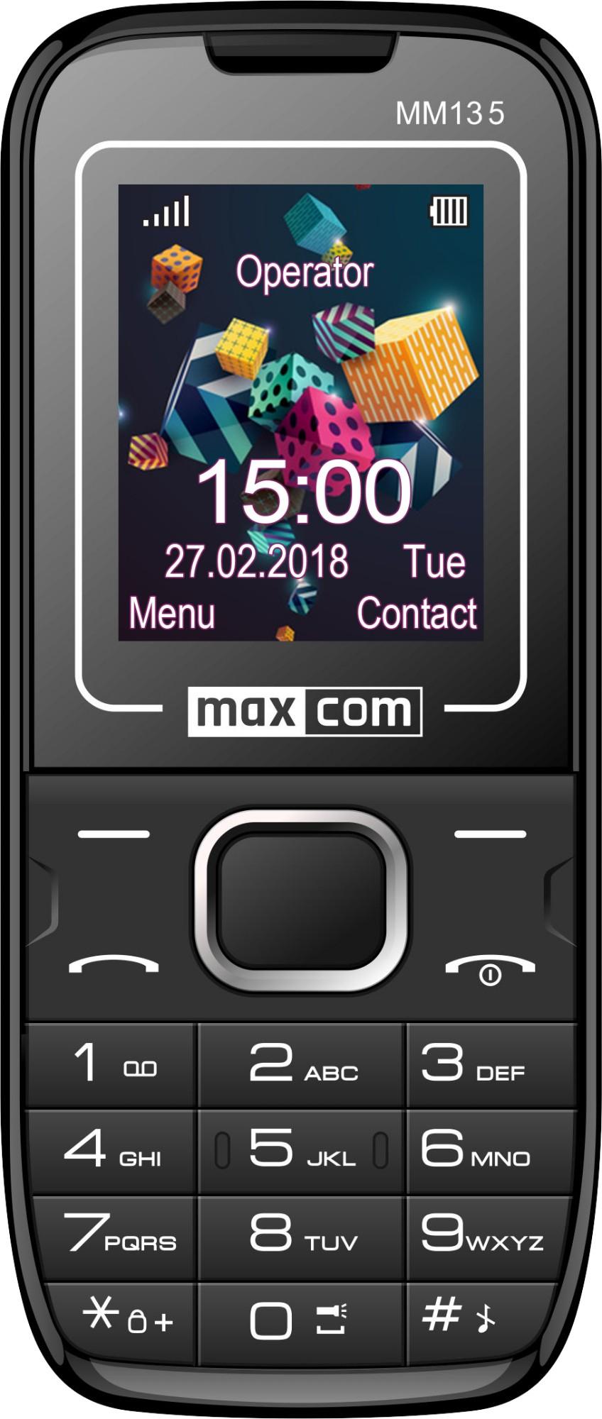 "MaxCom MM135 teléfono móvil 4,5 cm (1.77"") 60 g Negro, Azul"