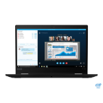 "Lenovo ThinkPad X13 Yoga Hybrid (2-in-1) Black 13.3"" 3840 x 2160 pixels Touchscreen 10th gen Intel® Core™ i7 16 GB DDR4-SDRAM 1000 GB SSD Wi-Fi 6 (802.11ax) Windows 10 Pro"