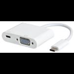 eSTUFF USB-C VGA Charging Adapter White interface hub