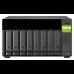 """QNAP TL-D800C/48TB EXOS 8 Bay Desktop HDD/SSD enclosure Black 2.5/3.5"""" TL-D800C/48TB-EXOS"""