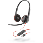Plantronics Blackwire C3220 Headset Head-band Black,Red