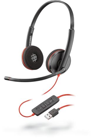 Plantronics Blackwire C3220 headset Head-band Binaural Black,Red