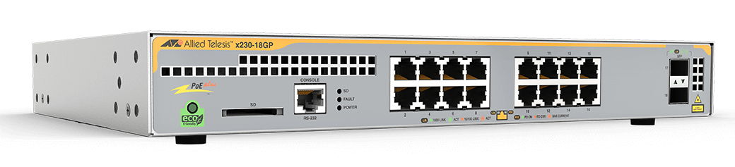 Allied Telesis X230-18GP Managed L3 Gigabit Ethernet (10/100/1000) Power over Ethernet (PoE) Grey