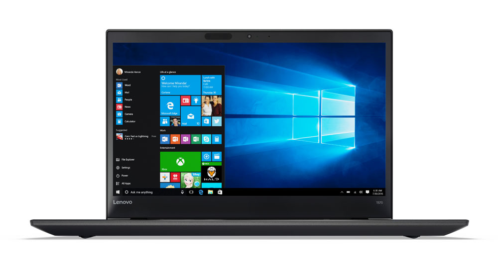 "Lenovo ThinkPad T570 2.8GHz i7-7600U 15.6"" 1920 x 1080pixels Touchscreen Black Notebook"