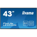 "iiyama ProLite LE4340S-B1 109.2 cm (43"") LED Full HD Digital signage flat panel Black"