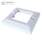 CONNEkT Gear AV Single Faceplate - 2 Module 86 x 86mm Bevelled Edge - White