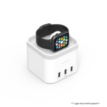 mBeat ® Power Time Apple Watch Charging Dock with 3 Extra Smart Charging Ports