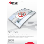Rexel Hanging Sign Covers A4 (10)