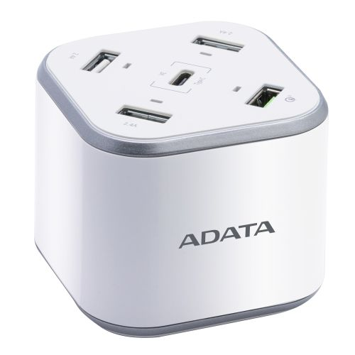 ADATA CU0480QC mobile device charger Indoor Silver,White