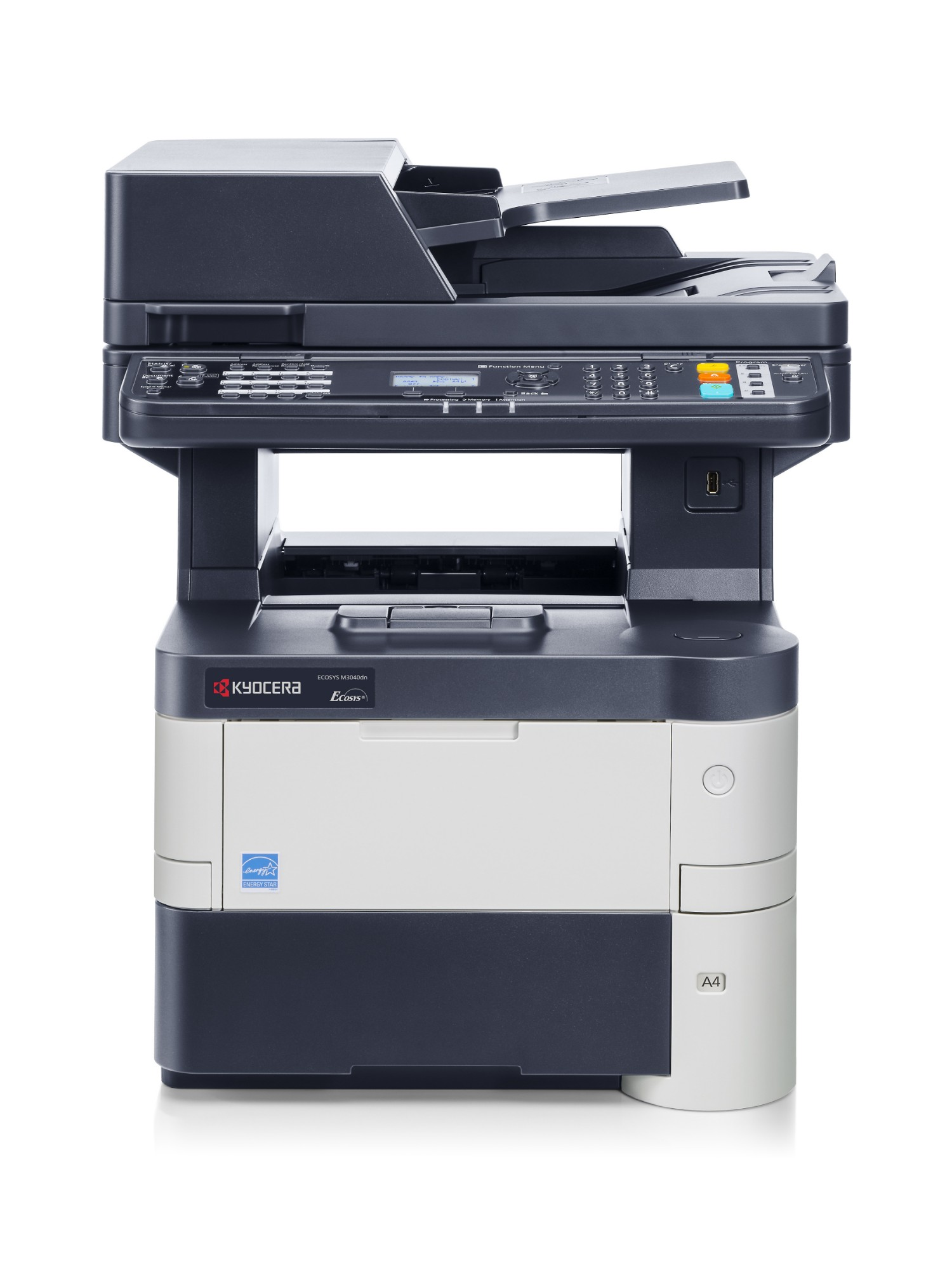 KYOCERA ECOSYS M3040dn A4 Mono Laser Multifunction, 40ppm Mono, 1,800 x 600 dpi,	2 Years Warranty