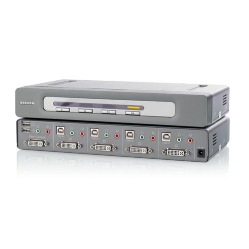 Belkin OmniView® Secure DVI-D Dual-Link 4-Port KVM Switch