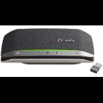 POLY 216865-01 altavoz Universal Negro, Plata Bluetooth