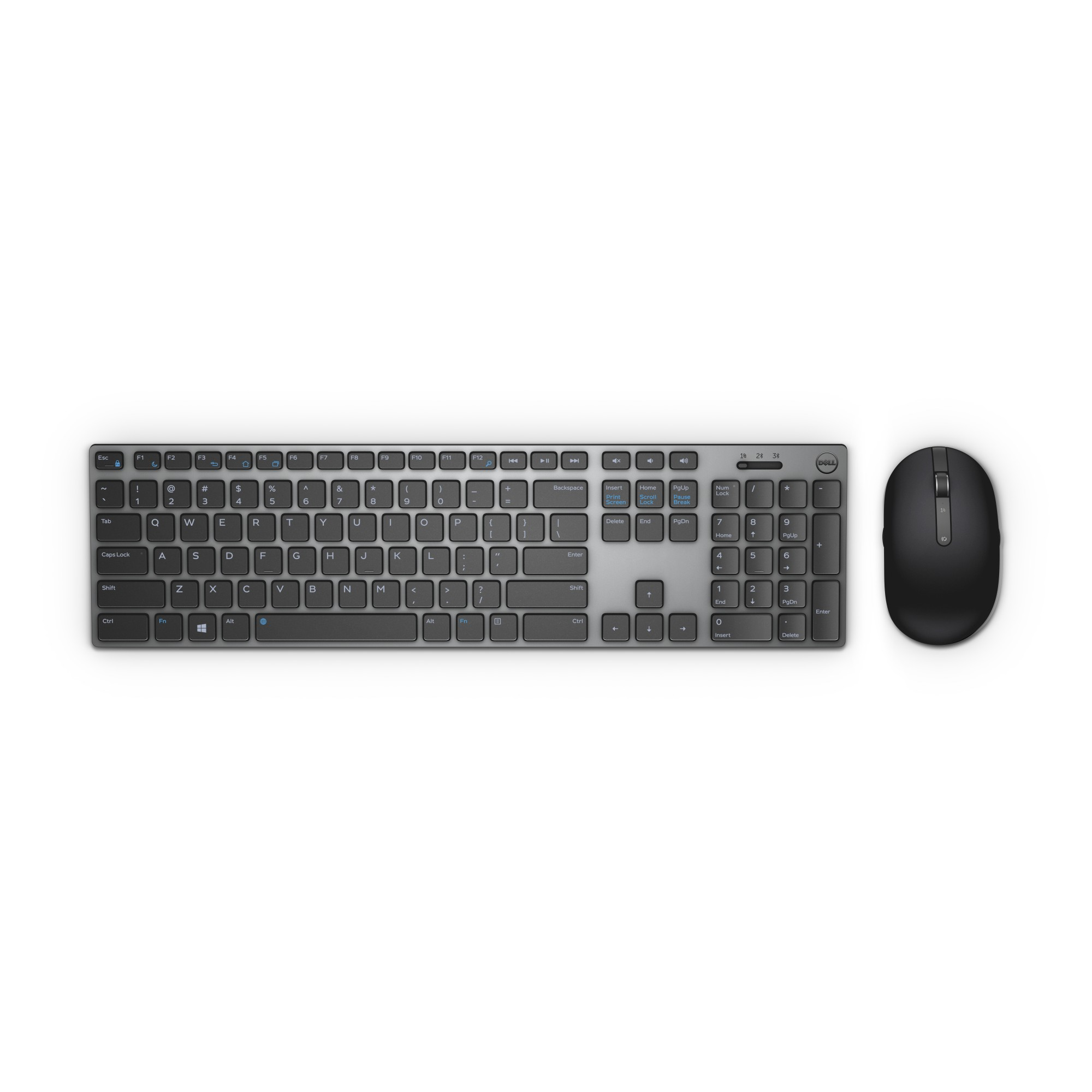 DELL KM717 keyboard RF Wireless + Bluetooth QWERTY UK English Black, Grey